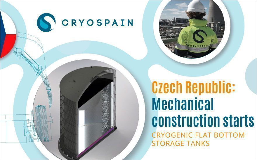 Flat-bottom cryogenic tanks in Czechia: assembly resumes!