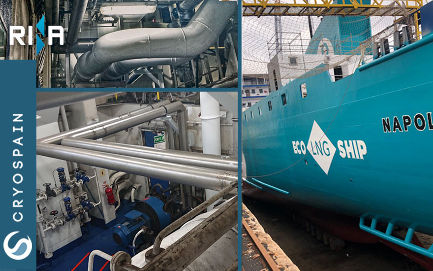 Vacuum insulated piping project for cleaner shipping